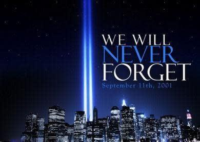 911  Tribute in light  We will never forget  National