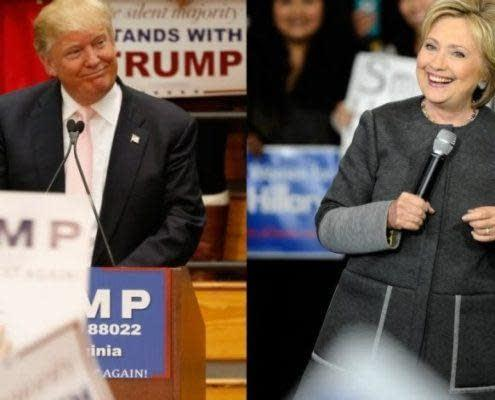 11 Trump and hillary Clinton